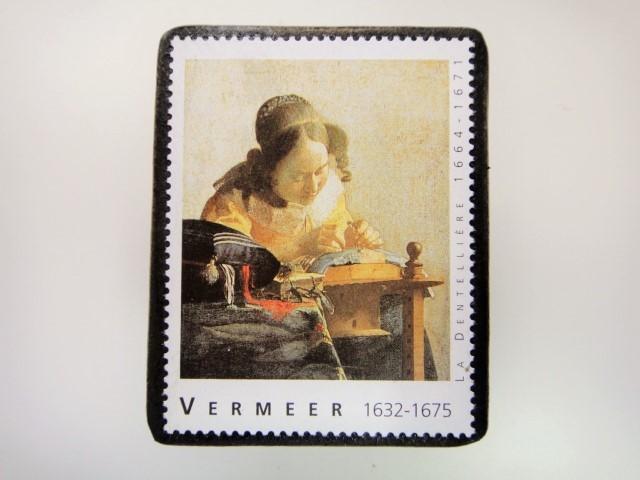 フェルメール 切手ブローチ 2851