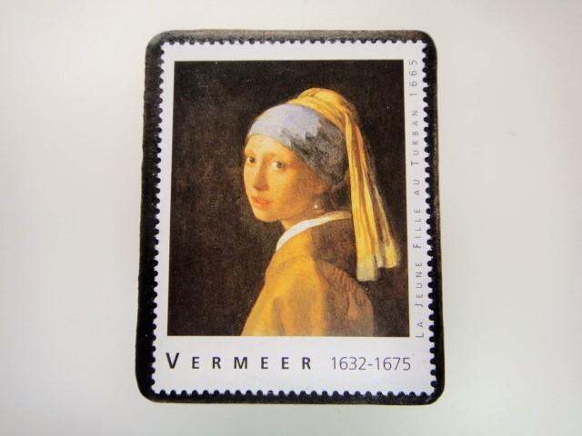 フェルメール 切手ブローチ 2852