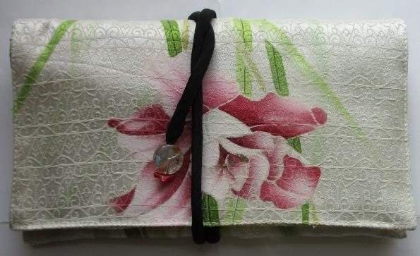 送料無料 花柄の訪問着で作った和風財...