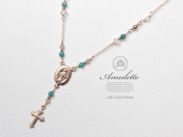 Amulette/ciel 14KGFネックレス