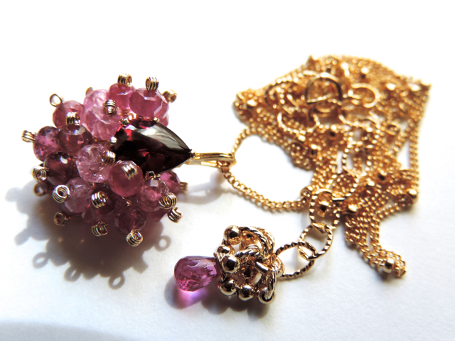 『 Fragrance heart 』Necklace by K14GF