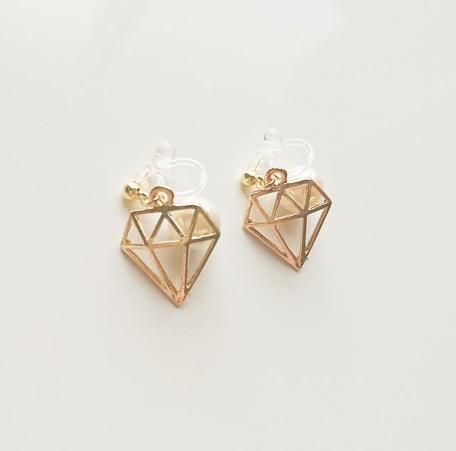 ダイヤモンドパール◇ノンホールイヤリング