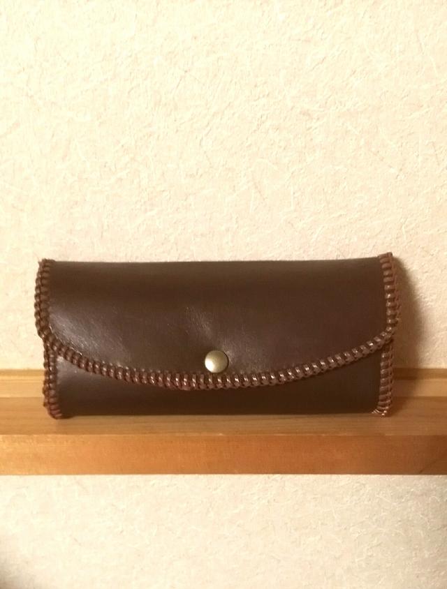 本革こぶりな長財布 送料無料