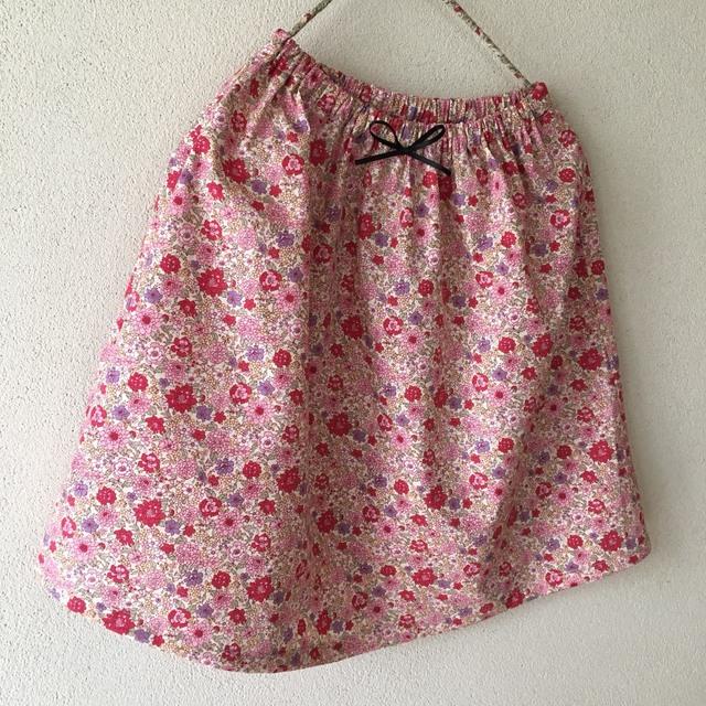 100cm花柄キッズスカート