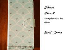 【iPhone7/8】Royal Crown 手帳型スマホケース*送料無料