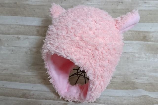 ピンクひつじ耳あて帽子  54