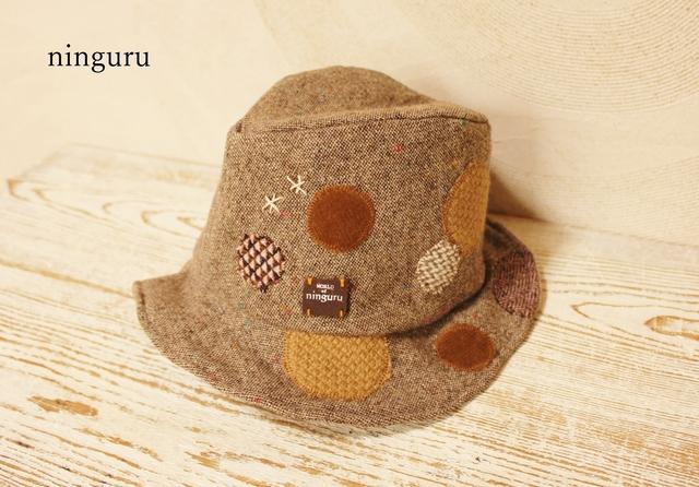 かっこいい中折れ帽子 (ブラウン)
