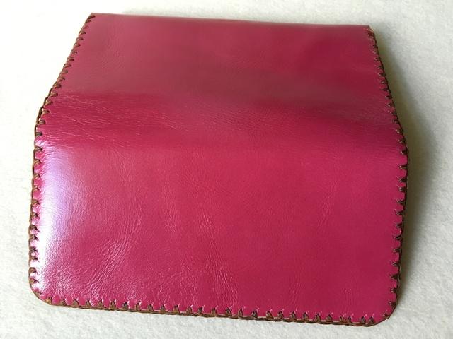686c5f1a14d3 ハッピーピンクレザー ウォレット 送料無料 革職人の手作り財布屋 本革手縫いバッグ