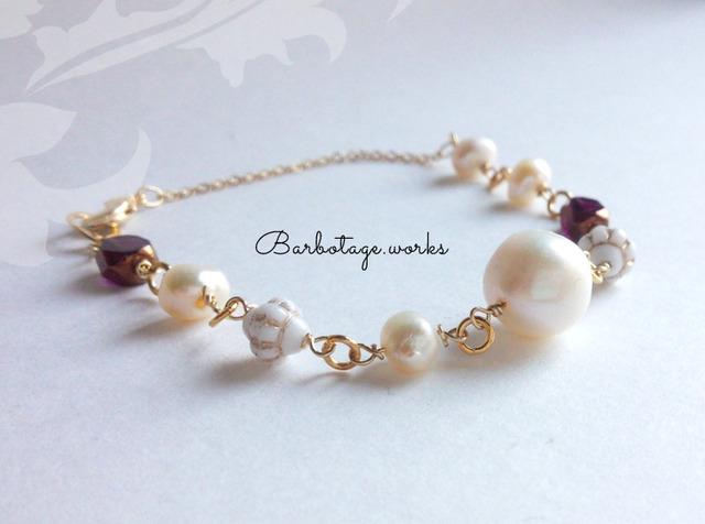 【再販】Oh! Burgundy bracelet【Br.010】