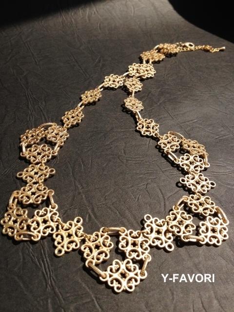matte gold*デザインネックレス
