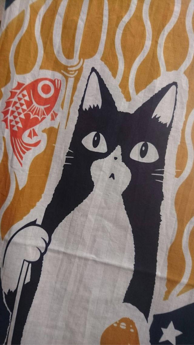 猫地蔵さん手ぬぐい