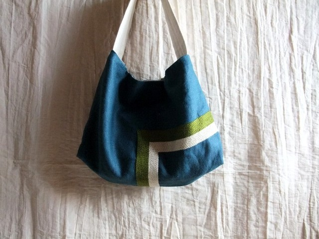 itoiro bag greenblue (g/w)