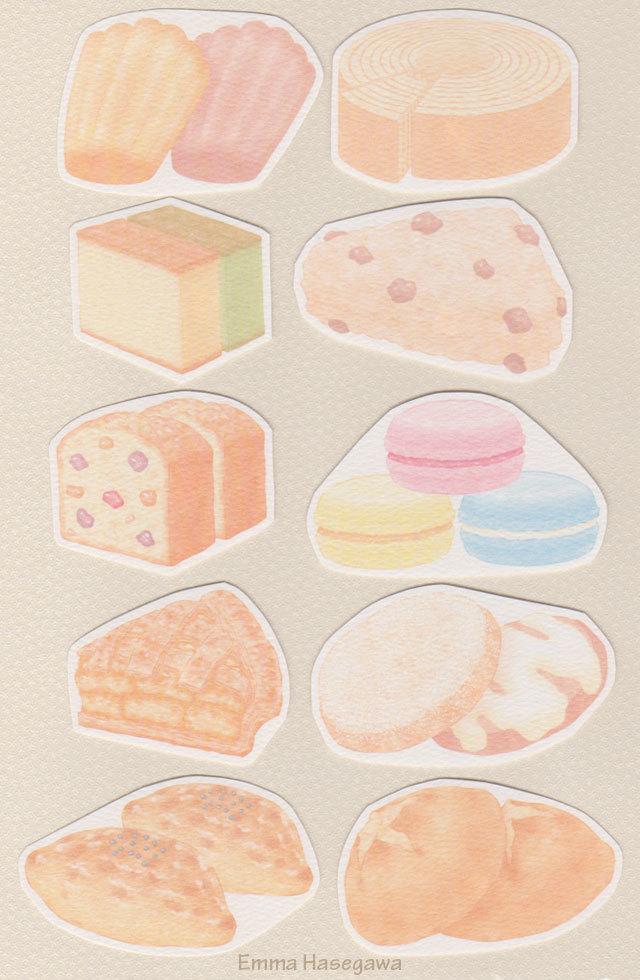 【9/28デビュー】焼き菓子の形のカード