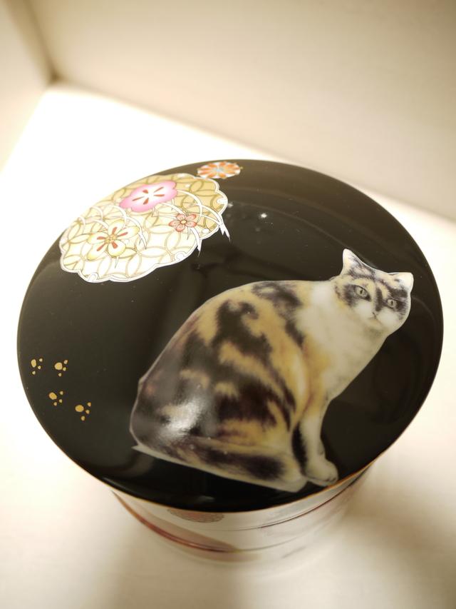 昭和レトロ猫の3段お重・黒