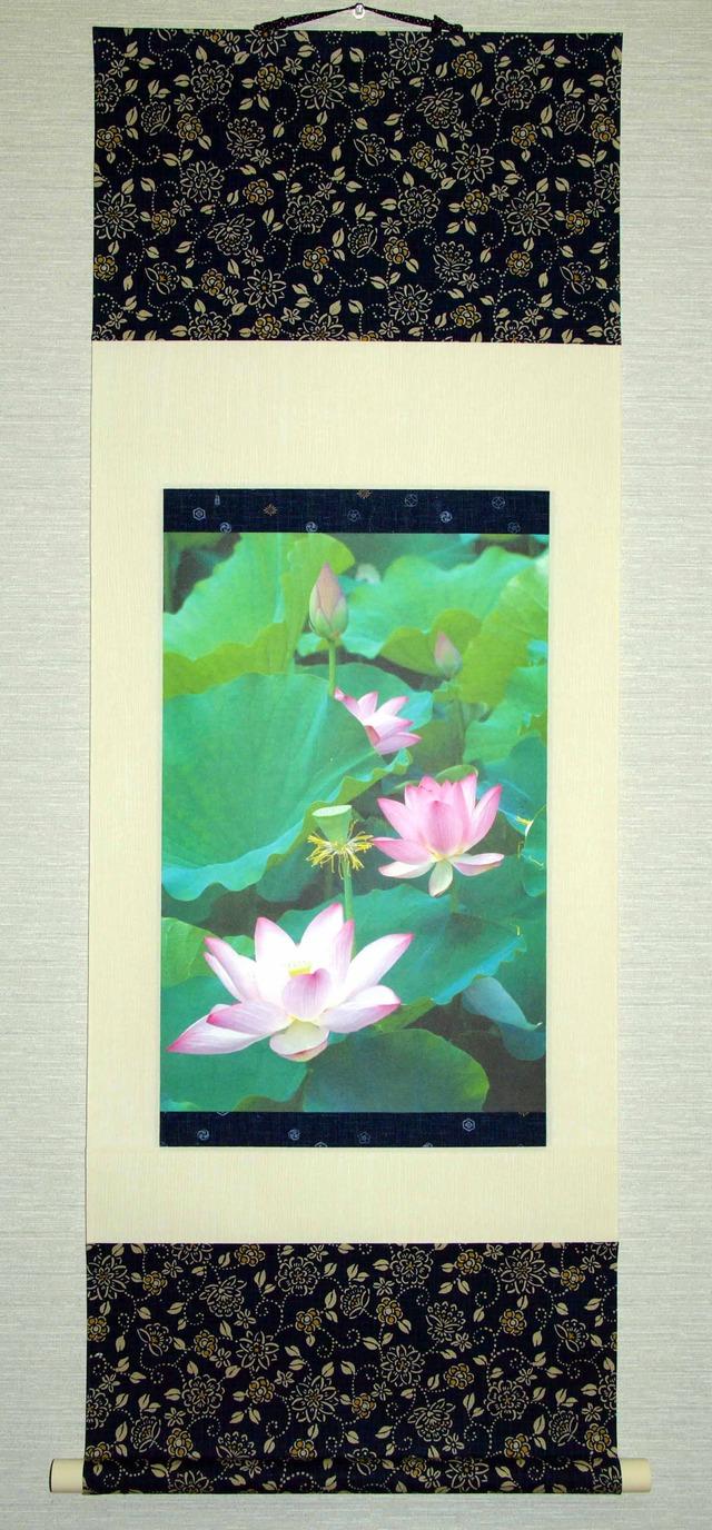 掛け軸:蓮花