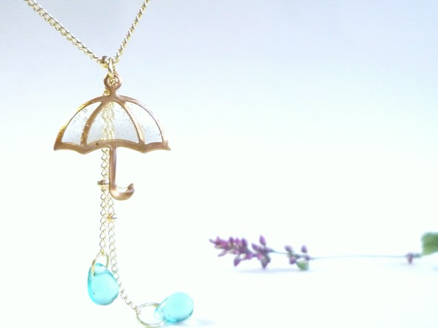 再)?UMBRELLA Necklace *Blue Drop