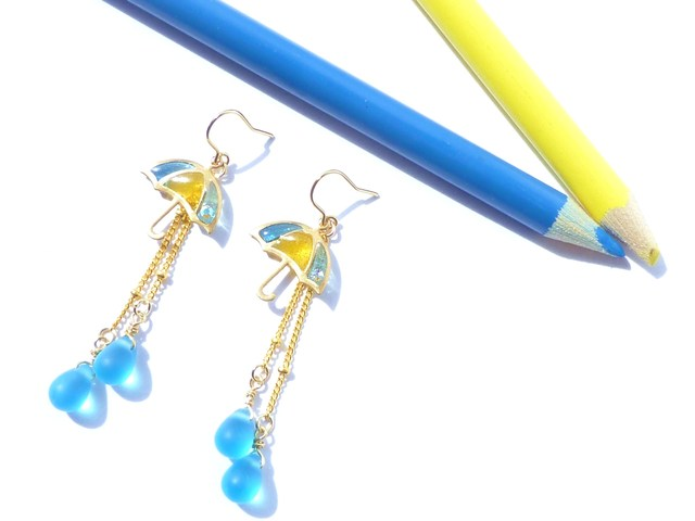 再販傘ピアス?UMBRELLA Earrings *Pastel Rain*