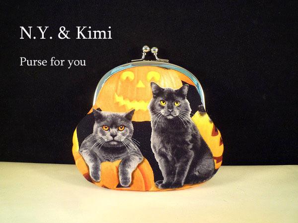 * ハロウィン USA黒ネコとかぼちゃ柄 ...