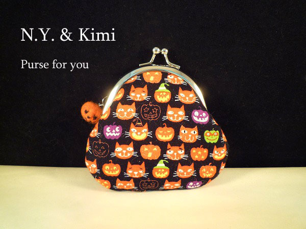 *ハロウィン 連続猫とかぼちゃ柄 が...