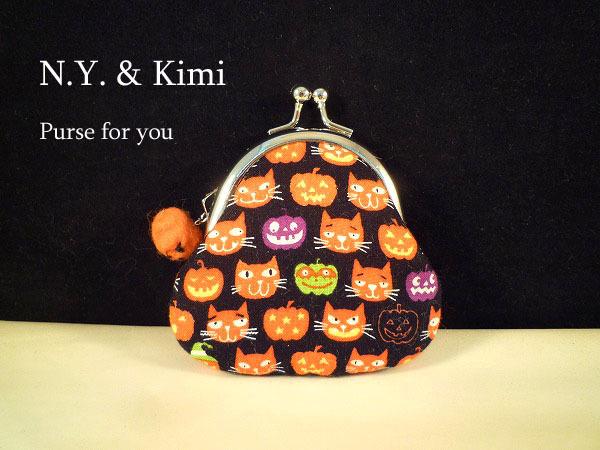 *ミニ ハロウィン 連続猫とかぼちゃ柄...