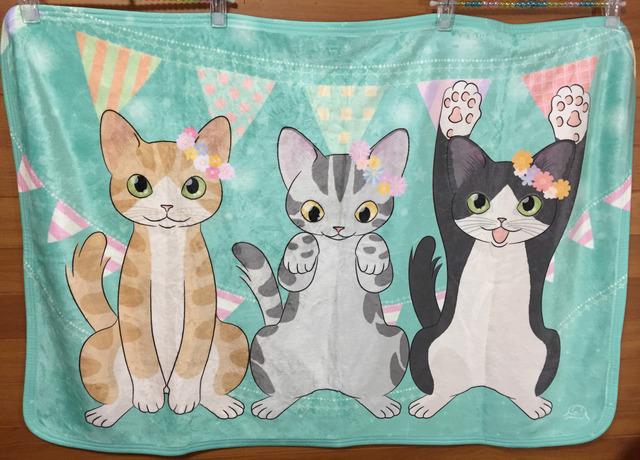 ひざかけ『猫3匹』