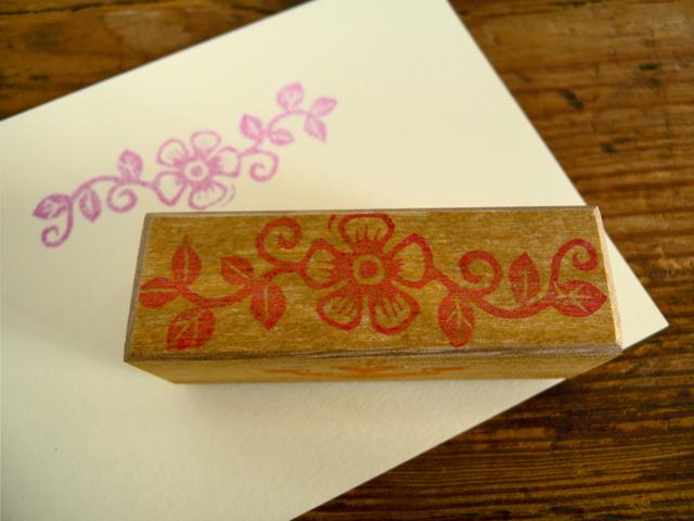 手彫りスタンプ Old Roseのレターヘッド