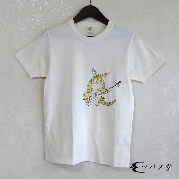 大津絵・猫に三味線Tシャツ