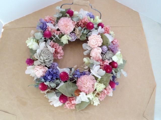 花摘みリース