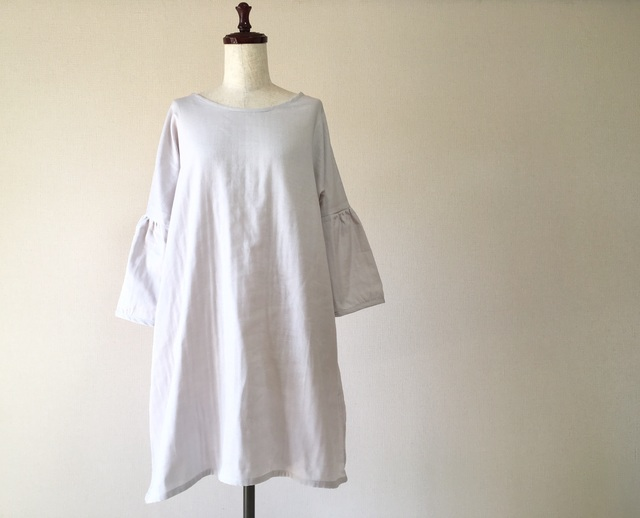 ダブルガーゼ*ふんわり袖のシンプルワ...