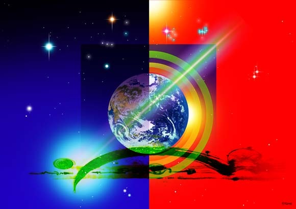<No.57『地球新世界』>ゼロポイントアート/KOMEI-ART