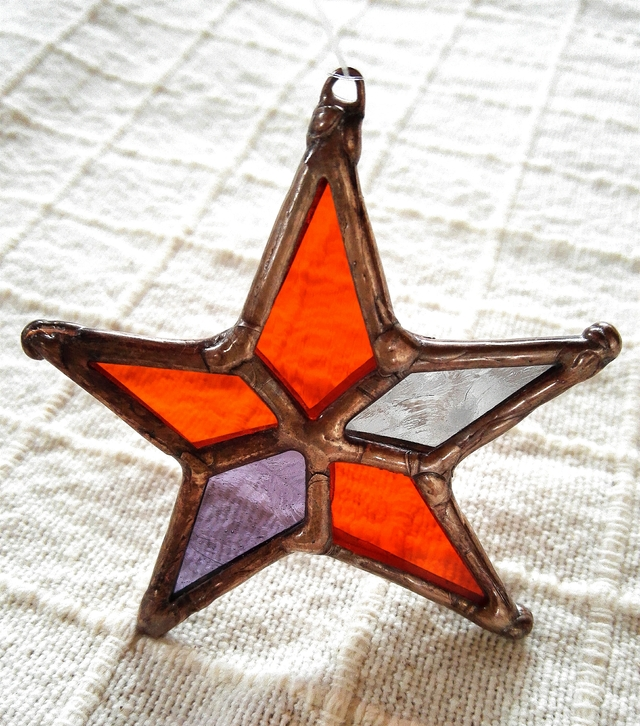 ステンドグラス ハロウイン色 お星様