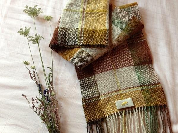 手織り リトアニアリウール 綺麗なグラデーションブラウン