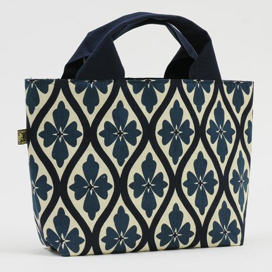 レトロ花柄 綿帯バッグ