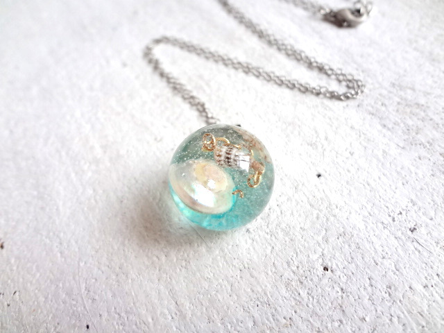 <SOLD> Seascape Necklace O