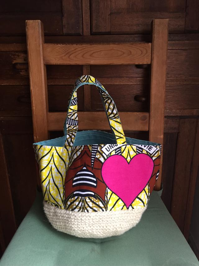 アフリカ カンガの可愛いバッグ  送料込み