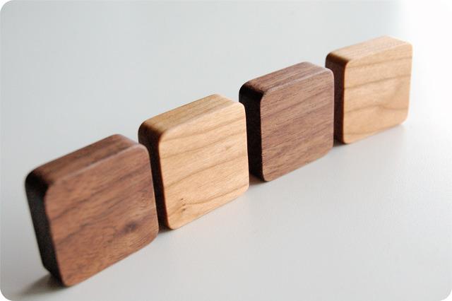 【lさま専用】木で作ったシンプルマグネ...