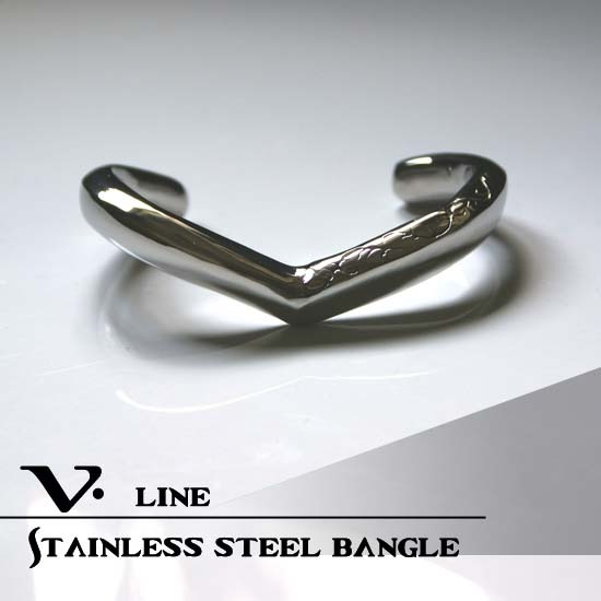 V Line Stainless Bangle