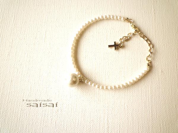 再販:pearl.cotton.pearl ブレスレット