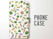 野菜の手帳型スマホケース《iPhoneケース》mice_177