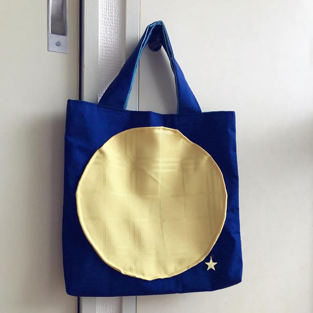 満月の手提げバッグ