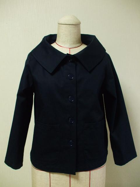 大きなショールカラーのジャケット(裏地...