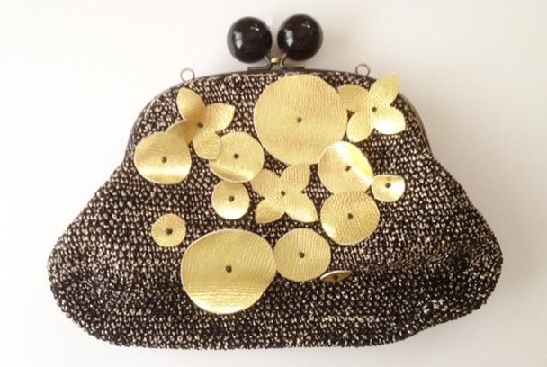 ゴールドモチーフバッグ