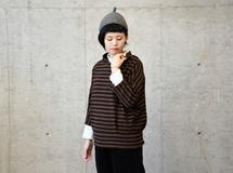 border pattern parker / coffee brown