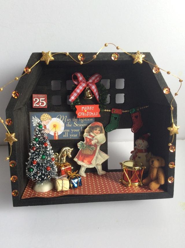 クリスマス コラージュシャドーボックス