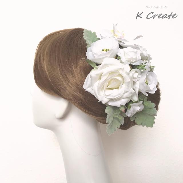 和装婚・白無垢に?胡蝶蘭と薔薇、白椿の...