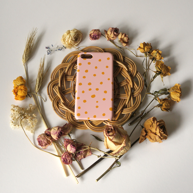 fuwa fuwa dot ( pink & mustard ) スマ...