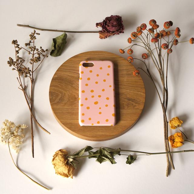 fuwa fuwa dot ( mustard & pink ) スマ...