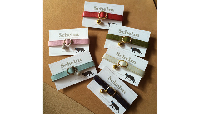705p様オーダー品 / cat collar【Schelm】*  mint