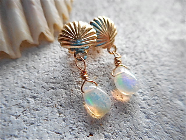 ☆再販☆ Mermaid Opal Earrings 14kgf