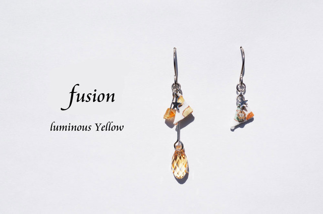 fusion pierced earring ~luminous yellow~